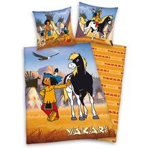 Herding Yakari Bettwäsche 135x200cm + 80x80cm gelb/mehrfarbig