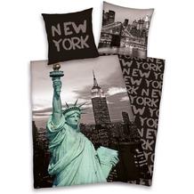 "Herding Young Collection ""New York"" Bettwäsche 135x200cm + 80x80cm grau"