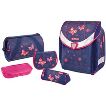 Herlitz Flexi Plus Schulranzen-Set 5-tlg Butterfly Dreams butterfly dreams