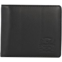 Herschel Hans XL Geldbörse RFID Leder 11 cm black pebbled leather