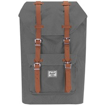 Herschel Little America Mid Volume Backpack Rucksack 38 cm Laptopfach grey tan synthetic leather