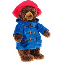 Heunec Paddington Bär 40 cm dunkelbraun mit rot und blau