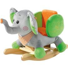 Heunec Schaukelelefant grau/grün/orange