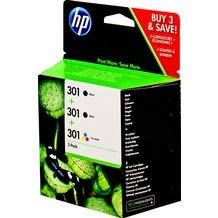 Hewlett-Packard HP 301 Combo Pack schwarz/schwarz/dreifarbig