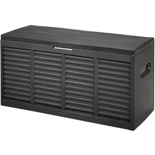 H.G.PLAST Gartenbox, Kunststoff anthrazit, L 119 x B 45,2 x H 57,7 cm