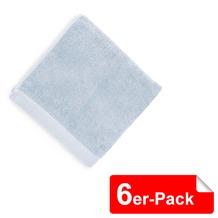 Heckett & Lane 6 Stück Gästentuch 30/50 Artic Ice 30 x 50