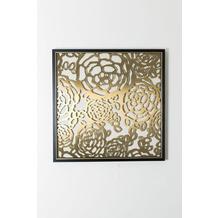 Holländer Bild ARCHITETTURA Edelstahl gold klare Glasscheibe