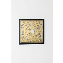 Holländer Bild CHEMICA Edelstahl gold klare Glasscheibe