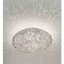 Holländer Deckenleuchte 10-flg. RIFUGIO Aluminium - Kristalle klar