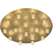 Holländer Deckenleuchte 16-flg. LUCENTE Eisen gold mit gehämmerter Oberfläche