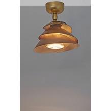 Holländer Deckenstrahler 1-flg. SNAIL Eisen gold