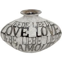 Holländer Dekovase AMORE Keramik grau-schwarz, 23 cm hoch