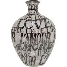 Holländer Dekovase AMORE Keramik grau-schwarz, 40 cm hoch