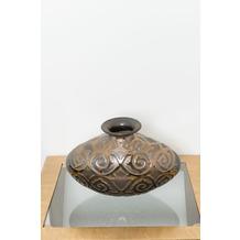 Holländer Dekovase COTOGNA Keramik bronze-anthrazit-gold innen glasiert