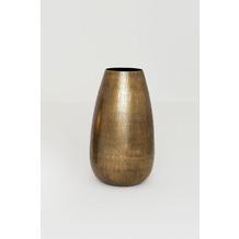 Holländer Dekovase FIORETTO Aluminium vergoldet gold Oberfläche gehämmert