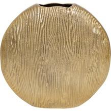Holländer Dekovase SCUDO OVAL GRANDE Aluminium gold - Seiten poliert