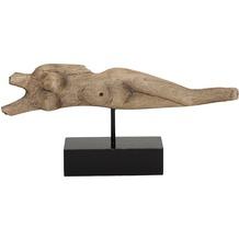 Holländer Figur ATLETA III Mangoholz antik - natur - Holz - Metallstange schwarz