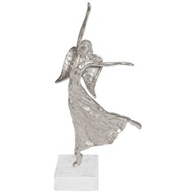 Holländer Figur PRELUDIO Aluminium silber - Holz weiß