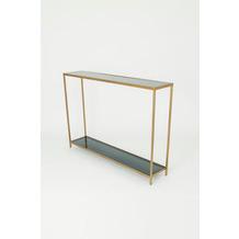 Holländer Konsole ACCURATO Eisen gold Glasplatten Float rauchgrau