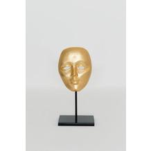 Holländer Maske CANDIDATO PICCOLO Aluminium vergoldet gold Ständer Eisen schwarz