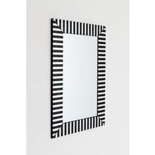 Holländer Spiegel ROMA Glas auf Holz schwarz-silber Spiegelglas