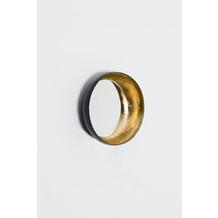 Holländer Spiegel ROSASPINA PICCOLO Eisen gold-mattschwarz Spiegelglas
