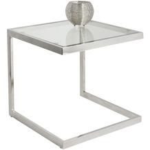 Holländer TISCH VIRGINE Edelstahl silber - Glas klar