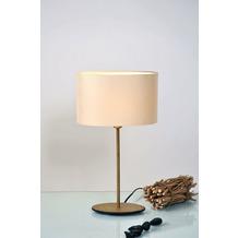 Holländer Tischleuchte 1-flg. MATTIA OVAL Eisen gold gehämmert - Schirm oval Lack schwarz innen gold
