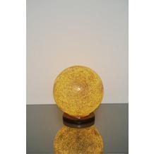 Holländer Tischleuchte 1-flg. NARZISO Glasmosaik amber - Fuß Marmor schwarz