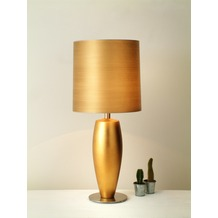 Holländer Tischleuchte 1-flg. OMEGA SOTTILE GRANDE Keramik blattvergoldet - Schirm gold handgewischt