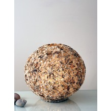 Holländer Tischleuchte 1-flg. SIRENA GRANDE Muscheln auf Fiberglas natur-sand-braun