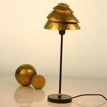 Holländer Tischleuchte 1-flg. SNAIL ONE Eisen braun-gold