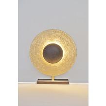 Holländer Tischleuchte 3-flg. VILLINO Eisen braun-schwarz-gold