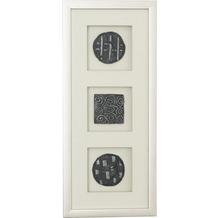 Holländer Wandbild DIVISO 1 Holz-Glas-Kunststein silber-schwarz