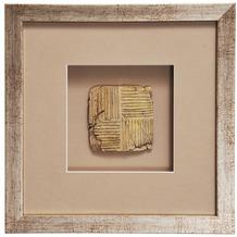 Holländer Wandbild GOIA 2 Holz-Glas-Kunststein silber-gold-sand