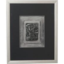 Holländer Wandbild IMMAGINE 1 Holz-Glas-Kunststein silber-schwarz
