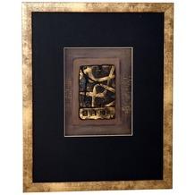 Holländer Wandbild IMMAGINE 2 Holz-Glas-Kunststein gold-schwarz