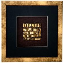 Holländer Wandbild MICADO 4 Holz-Glas-Kunststein gold-schwarz