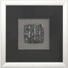 Holländer Wandbild RISULTATO 3 Holz-Glas-Kunststein silber-schwarz