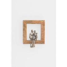 Holländer Wanddeko INGRANARE Mangoholz natur Figuren Aluminium silber