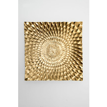 Holländer Wanddekoobjekt GRATICCIO Aluminium gebürstet gold