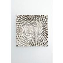 Holländer Wanddekoobjekt GRATICCIO Aluminium gebürstet silber