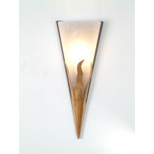 Holländer Wandleuchte 1-flg. LUCE Eisen gold-braun - Glas weiß gesandet