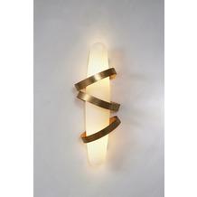 Holländer Wandleuchte 3-flg. LEGATO Eisen gold - Glas weiß opal