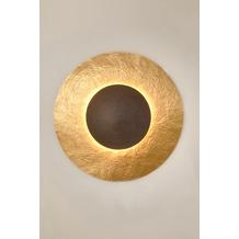 Holländer Wandleuchte 3-flg. SATELLITE 2 Eisen gold-braun mit gehämmerter Oberfläche
