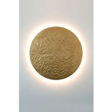 Holländer Wandleuchte METEOR GIGANTE Eisen mit gehämmerter Oberfläche gold