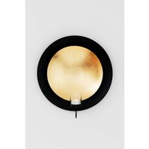 Holländer Wandwindlicht 1-flg. DESERTO GRANDE Eisen gold-schwarz blattvergoldet