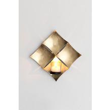Holländer Wandwindlicht 1-flg. SCUDO Eisen blattvergoldet gold Glashalterung schwarz