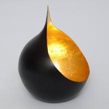 Holländer Windlicht 1-flg. CANESTRO Metall schwarz-gold