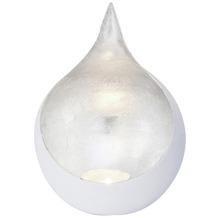 Holländer Windlicht 1-flg. CANESTRO Metall weiß-silber